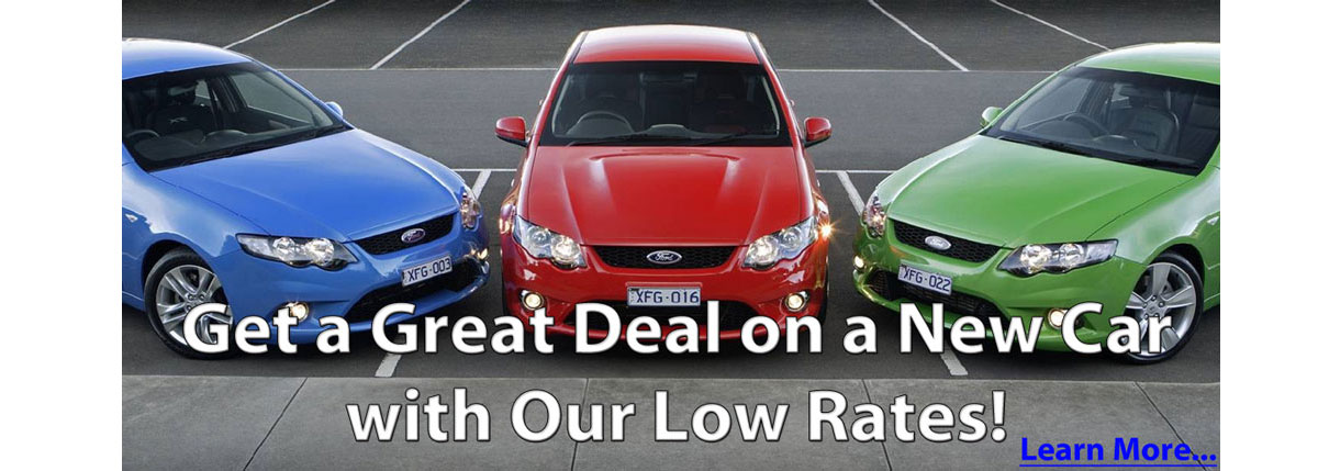 Get a great deal on a new car with our low rates.